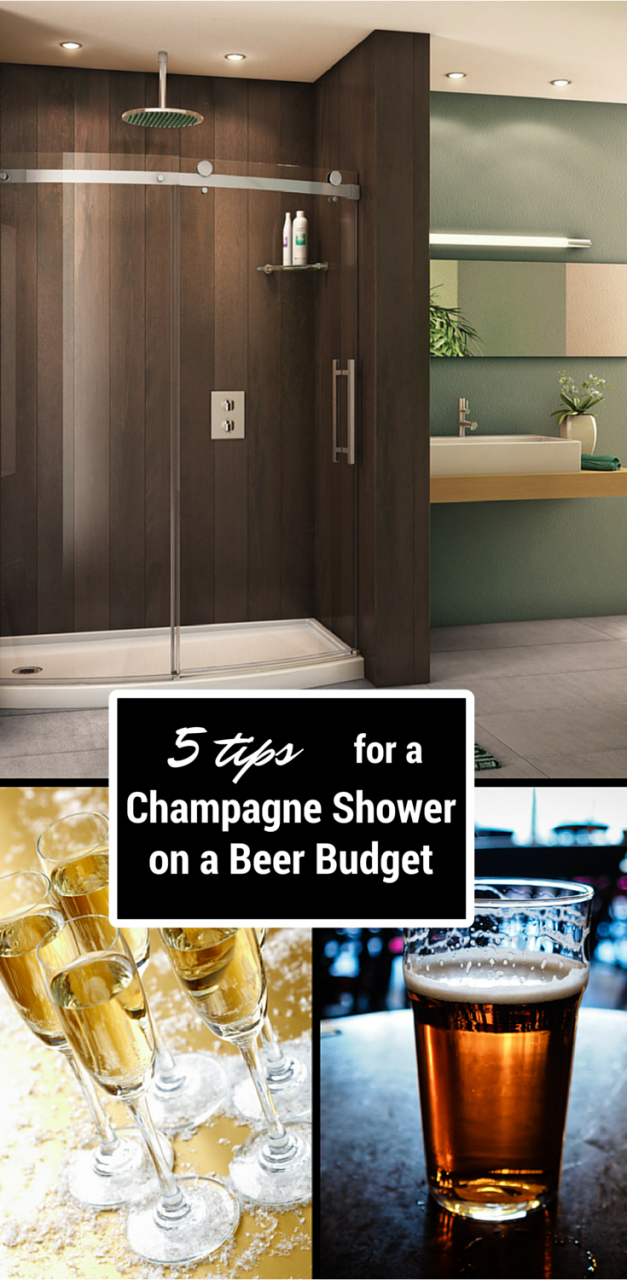 5 Tips for a Champagne Shower on a Beer Budget | Innovate Building Solutions #DIYShower #DIY #Shower