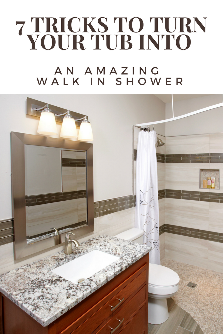 7 Tricks to Turn Your Tub Into a Walk In Shower | Innovate Building Solutions #Tub #WalkInShower #Remodeling #Bathroom