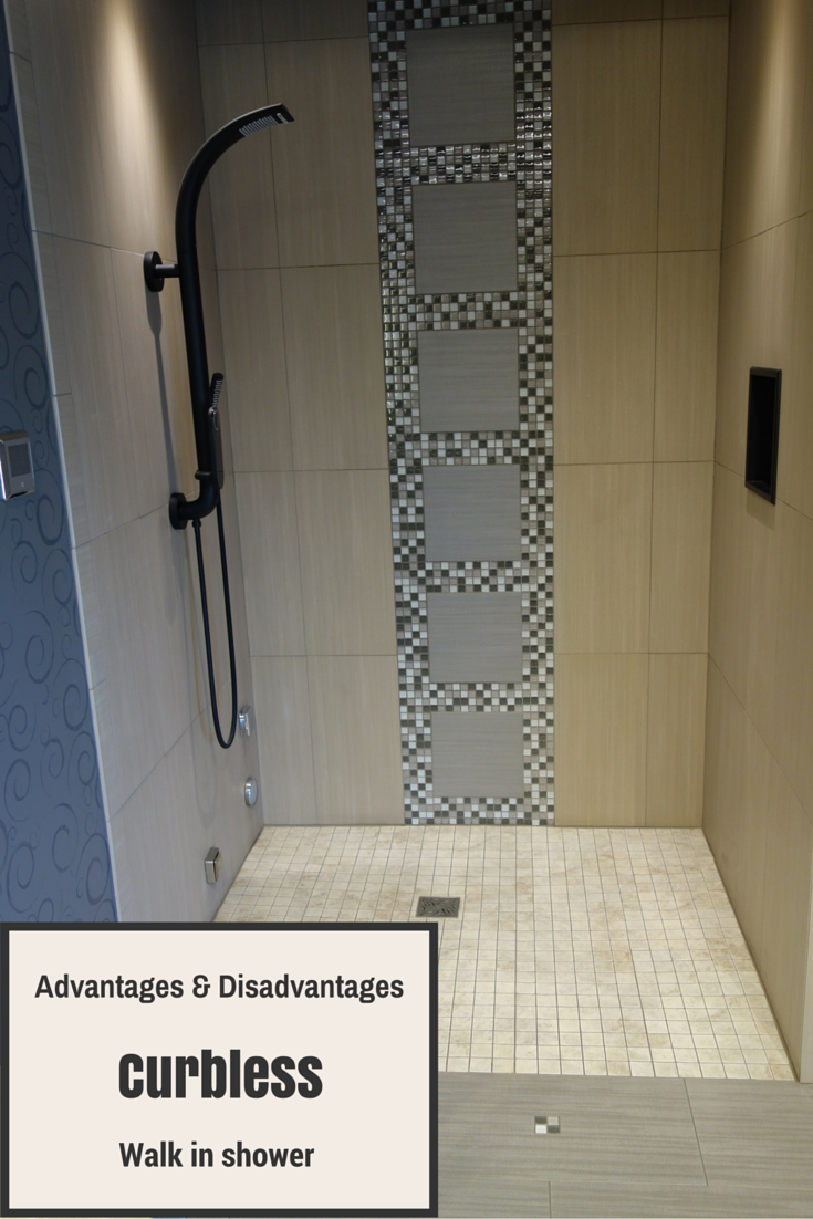 Advantages and Disadvantages of a Curbless Walk in Shower | Innovate Building Solutins #WalkInShower #Accessible #AccessibleShower #RollInShower
