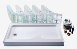 Glass Block Shower Kit | Innovate Building Solutions | #ShowerKit #GlassBlock #GlassBlockKit