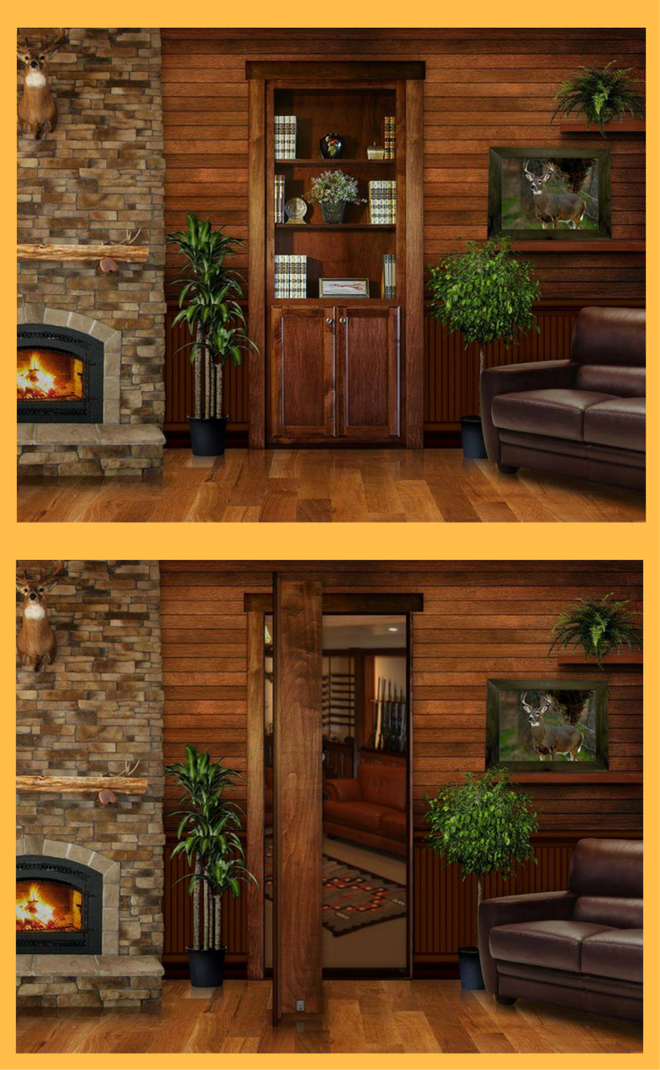 Hidden Murphy Door for Closet or Safe Room Storage