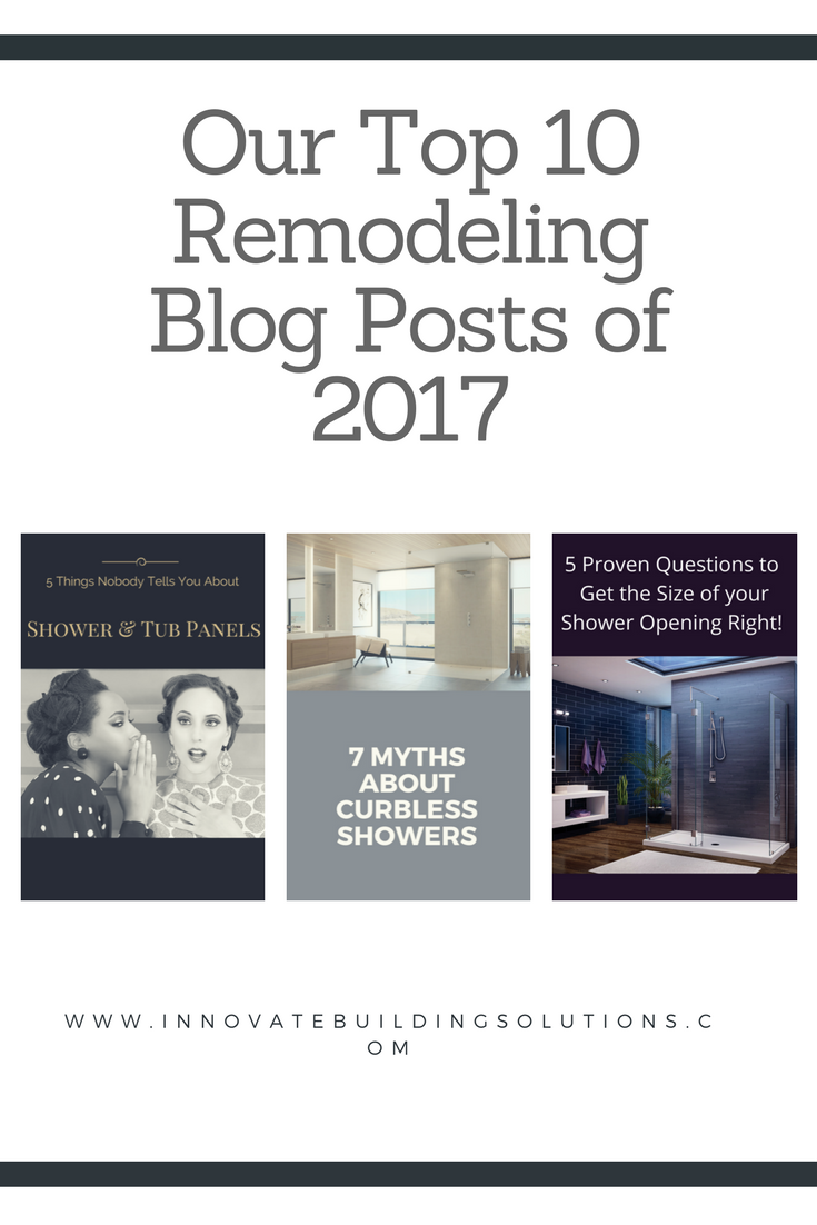 Our Top 10 Bathroom Remodeling Blog Posts of 2017 | Innovate Building Solutions #Remodeling #Blog #Bathroom