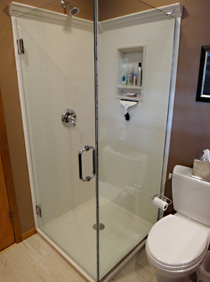 Solid Surface Wall Panels | Innovate Building Solutions | #SolidSurfaceBase #WallPanels #TinyShower
