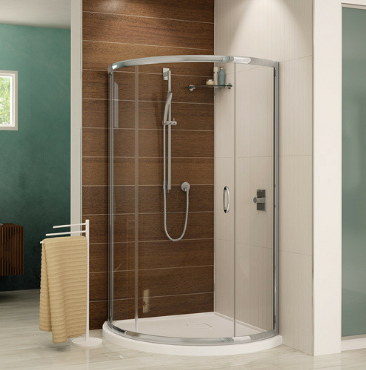Shower Curved Acrylic Base | Innovate Building Solutions | #AcrylicBase #ShowerBase #CurveBase