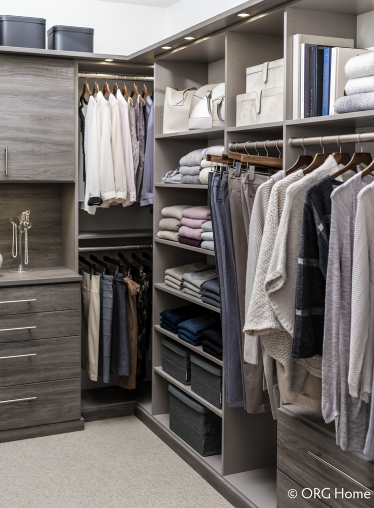 Custom Organized Closet System | Innovate Building Solutions | Innovate Home Org | #ClosetOrganization #HomeOrganization #ClutteredCloset