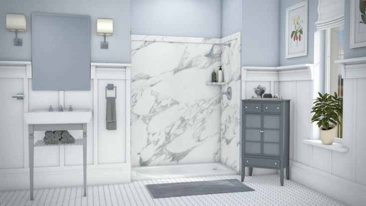 DIY wall panels for Shower Remodel | Innovate Building Solutions | #DIYShowerWalls #ShowerPanels #BathroomRemodel