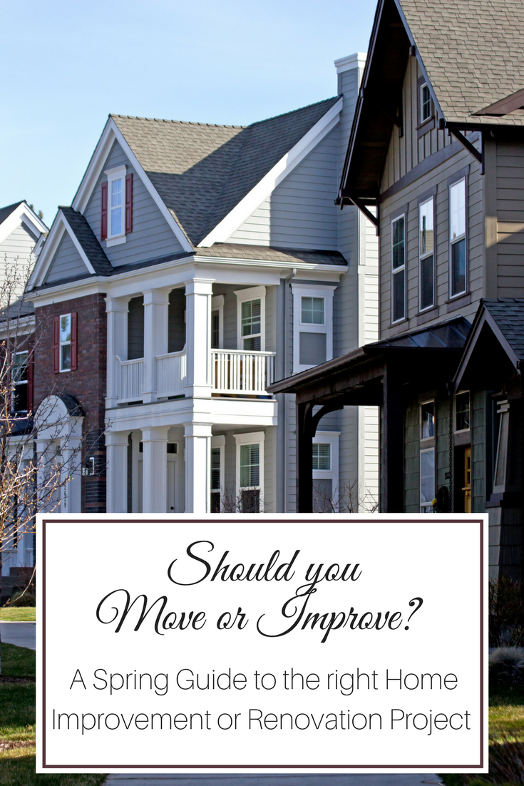 Should you move or improve? A Spring Guide to the right Home Improvement or Renovation Project