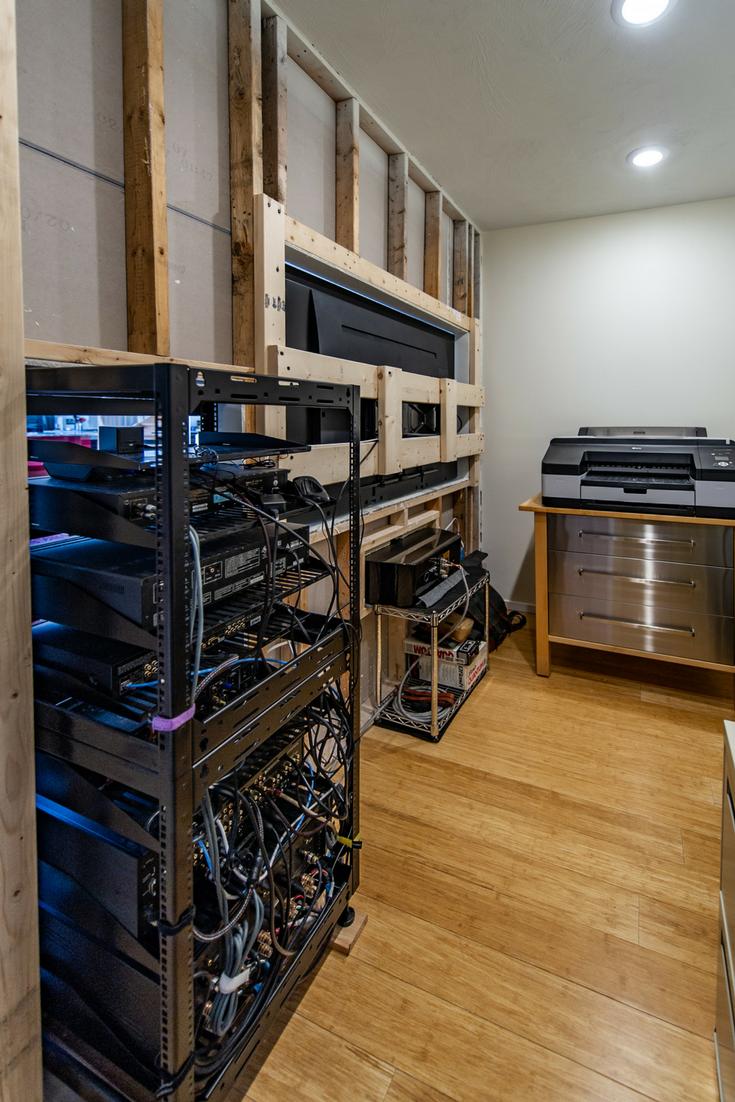 Inside safe room AV room resized | Innovate Building Solutions | #SafeRoom #EmptyNester #Luxuryliving