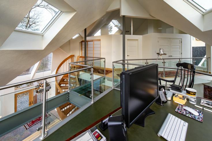 Leather Desktop and Floor | Innovate Building Solutions | #LeatherFloor #LeatherDesk #UniqueHome