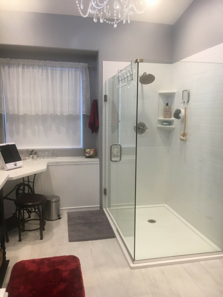 Solide Surface Custom Size Wall Panels | Innovate Building Solutions | #SolidSurfacePanels #ShowerWalls #ShowerBases