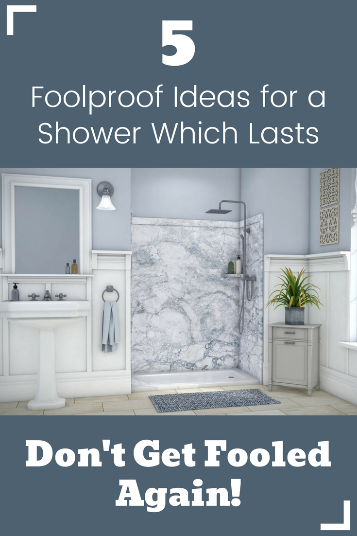 5 Foolproof ideas for a shower which lasts - don't be fooled again | Innovate Building Solutions | #ShowerRemodel #BathroomRenovations #ShowerPanels