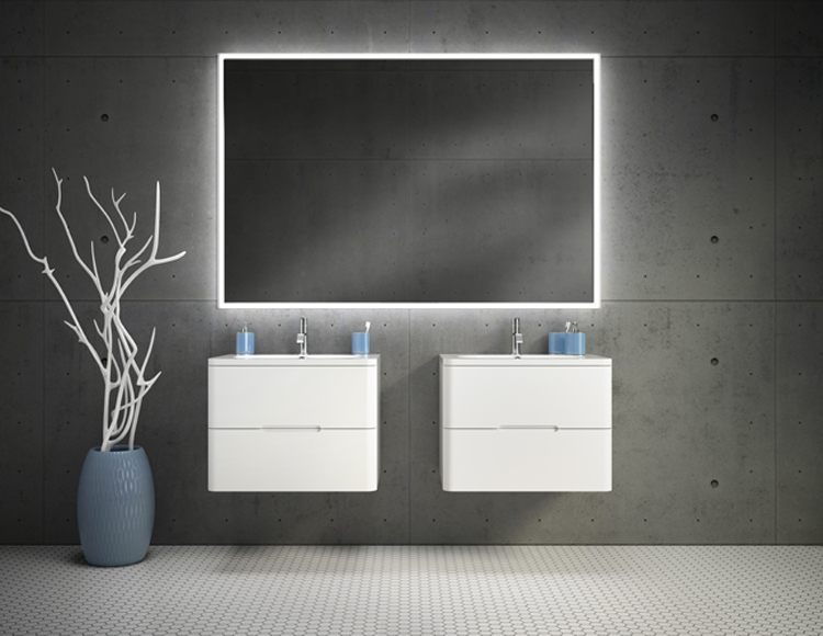 Floating wall hung vanities work in big and small bathrooms alike | Innovate Building Solutions