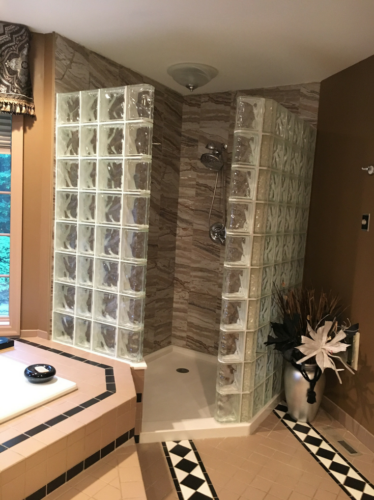 Cultured stone shower pan | Innovate Building Solutions | #ShowerPan #ShowerWallPanels #SolidSurfaceBase