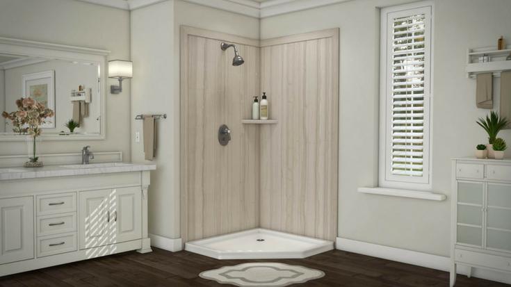 DIY shower wall panels | Innovate Building Solutions | #DIYShowerPanels #ShowerPanels #BathroomRemodel #ClevelandRemodel