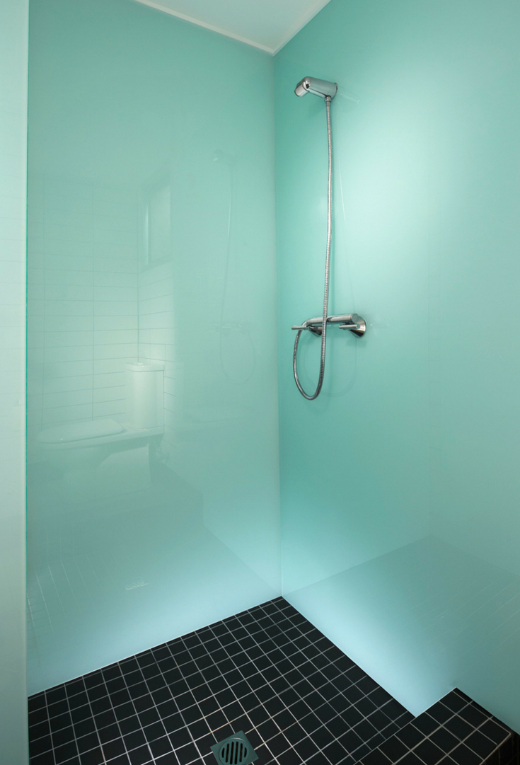 High Gloss Acrylic Wall Panels Back Painted Glass Alternative - Alternative to tiles in shower cubicle