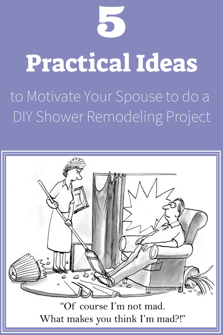 Ideas to Motivate Your Spouse to do a DIY Shower Remodeling Project | Innovate Building Solutions | #ShowerRemodel #ShowerProject #ShowerPanels