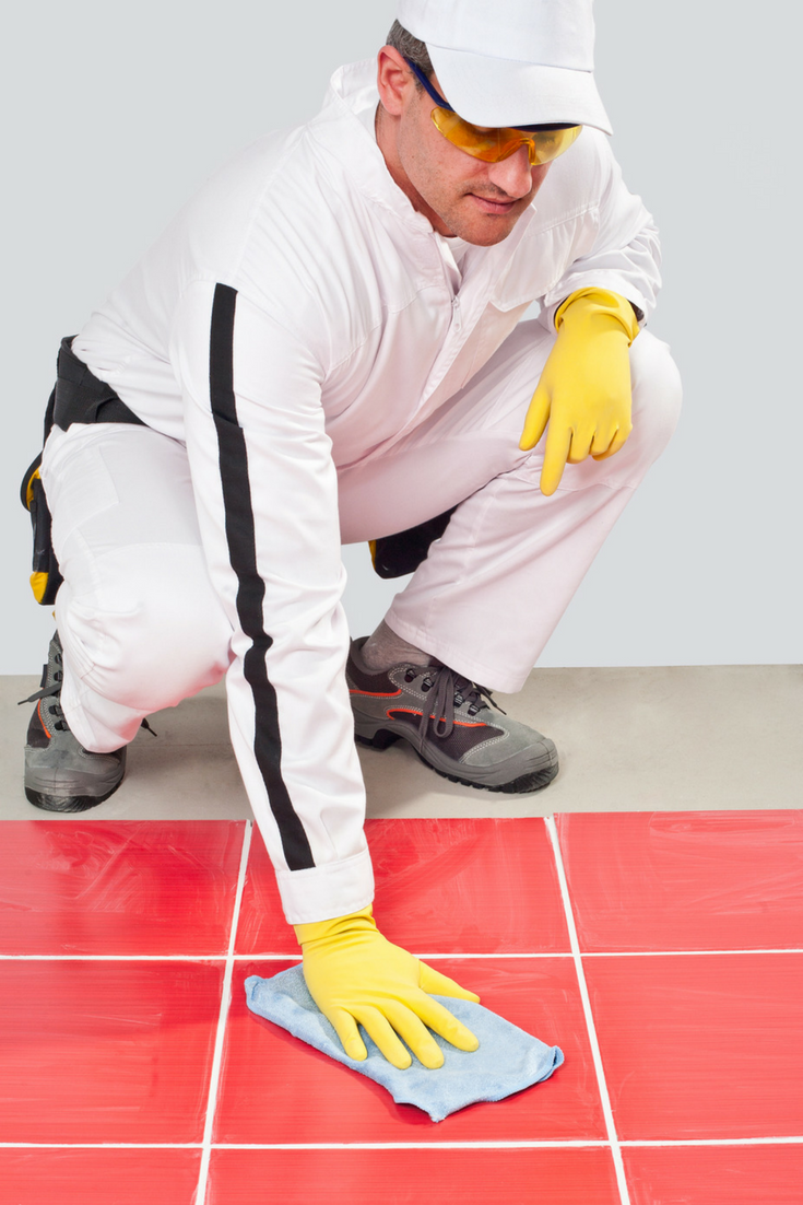 Make them clean the tile grout | Innovate Building Solutions | #CleaningTile #Grout #DirtyBathroom