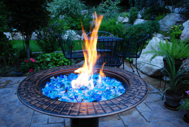 Outdoor fire Glass | Innovate Building Solutions | #FirepitGlass #StructuralGlass #GlassDesigns