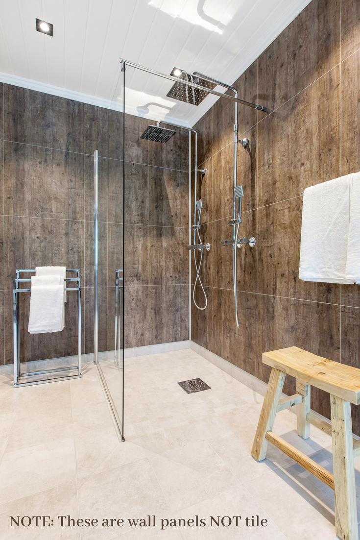 Wall panels not tile for shower | #ShowerWallPanels #BathroomRemodel #ShowerBase