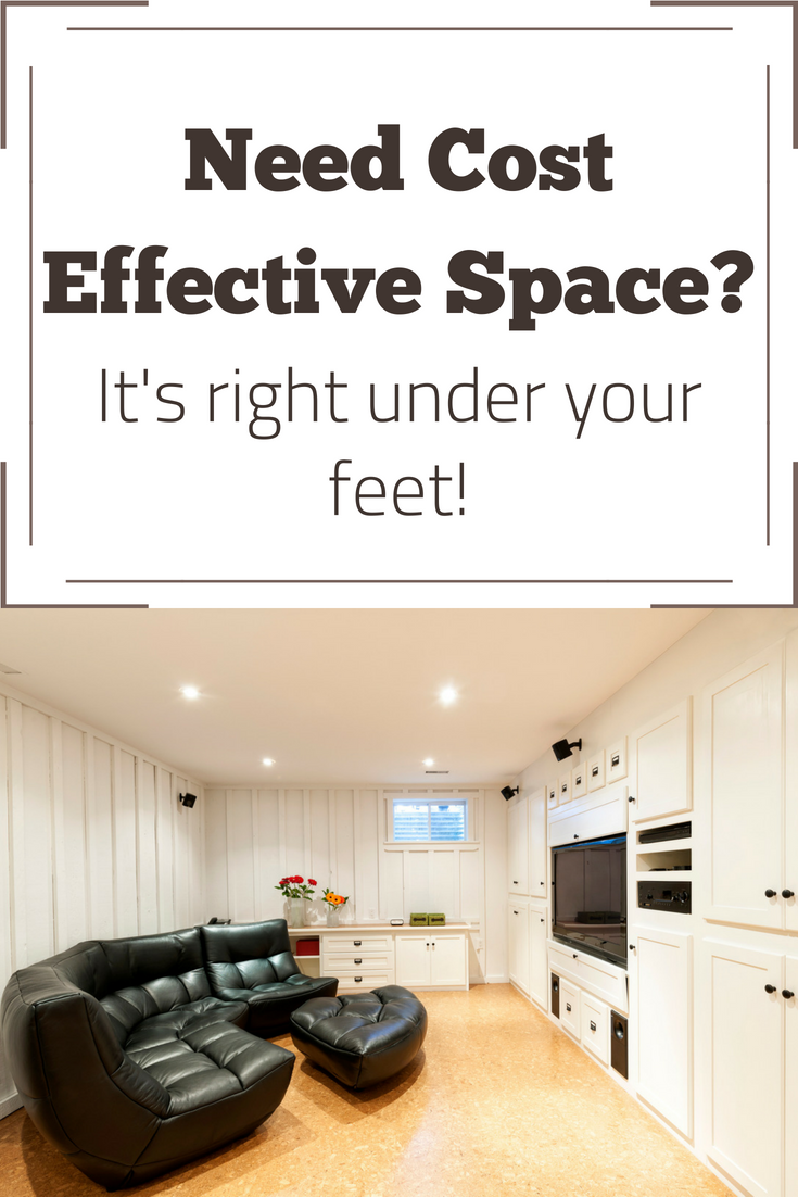 Need cost effective space? It's right under your feet!