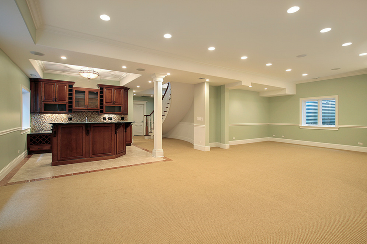 Blank canvas large open spaces in Basement | Innovate Building Solutions | #ClevelandRemodelingandDesign #BasementRemodel #FiinishedBasement