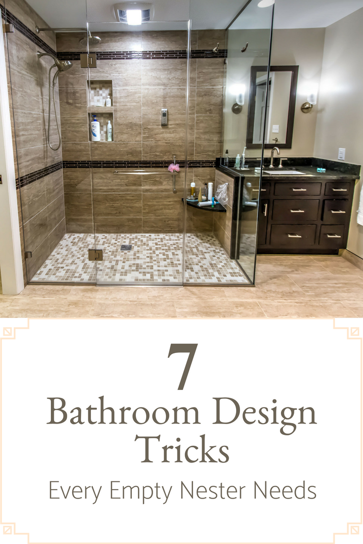 7 Bathroom Design Tricks Every Empty Nester Needs | Innovate Building Solutions | #BathroomRemodel #EmptyNester #HomeRemodel #ShowerPanels