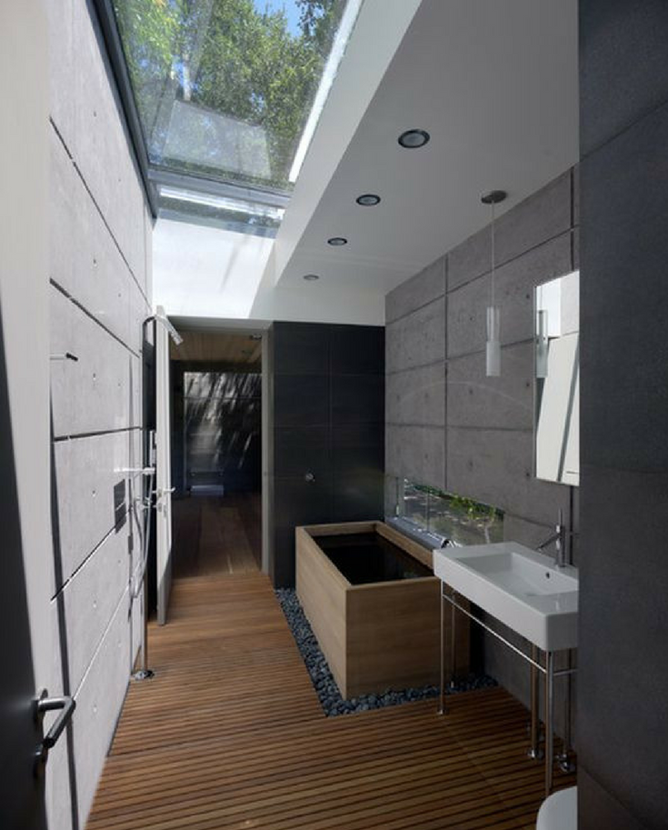 Skylight in a bathroom | Innovate Building Solutions | #Skylight #WindowSkylight #BathroomWindow