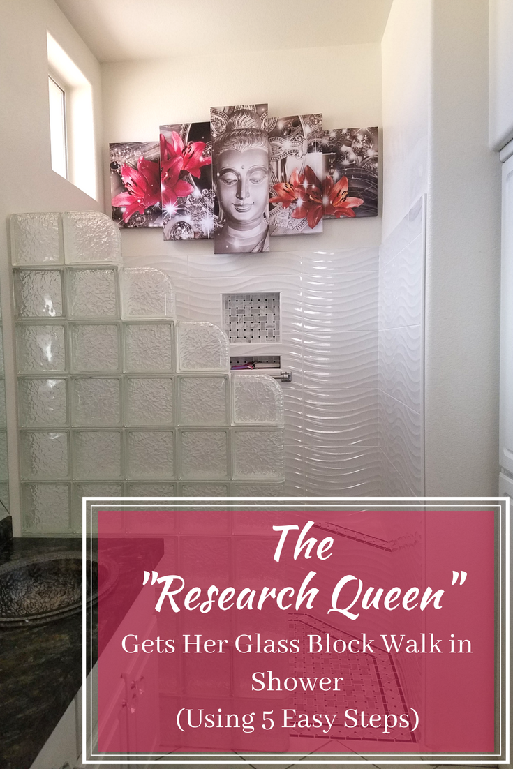 The research Queen Gets her glass block walk in shower | Innovate Building Solutions | #GlassBlockWall #GlassBlockDesign #LasVegasGlassBlock