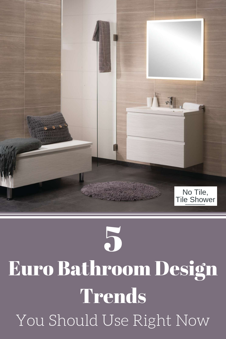 5 Euro Bathroom Design Trends You Should Use Right Not | Innovate Building Solutions | #TileShower #LaminatePanels #BathroomWallPanels
