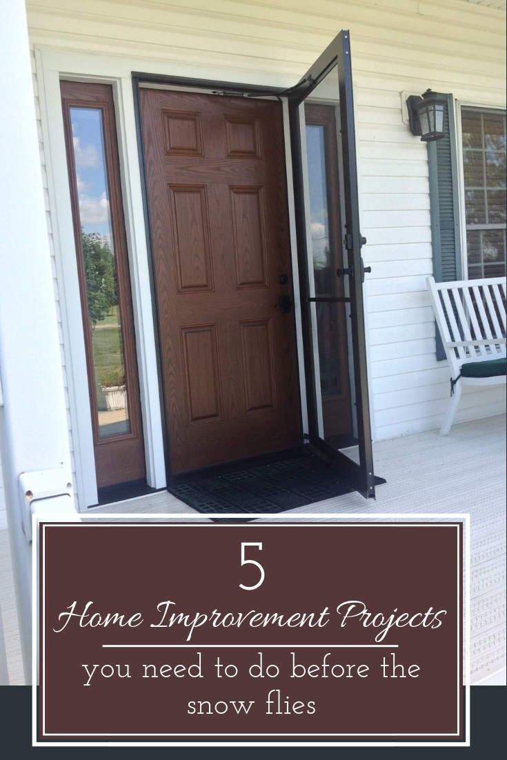 5 Home Improvement projects you need to do before the snow flies | Innovate Building Solutions | #HomeImprovement #ContemporaryHomes #EntryDoor