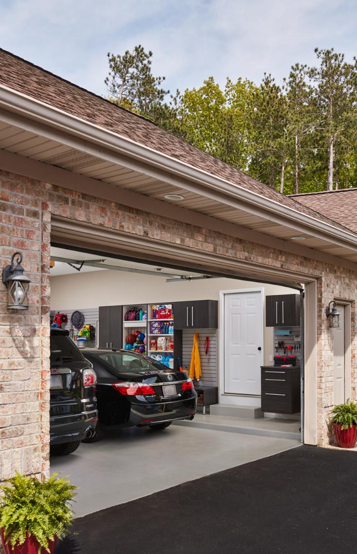 An organized garage storage system | Innovate Building Solutions | #OrganizedGarage #GarageStorage #GarageCabinets