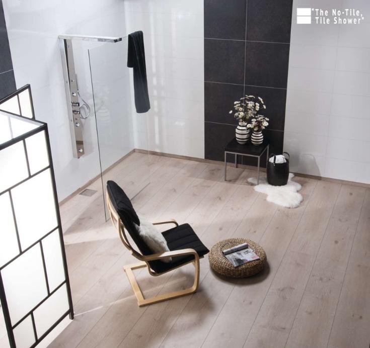 No tile tile shower laminated wall panels | Innovate Building Solutions | #NoTileTileShower #LaminatePanels #DIYPanels