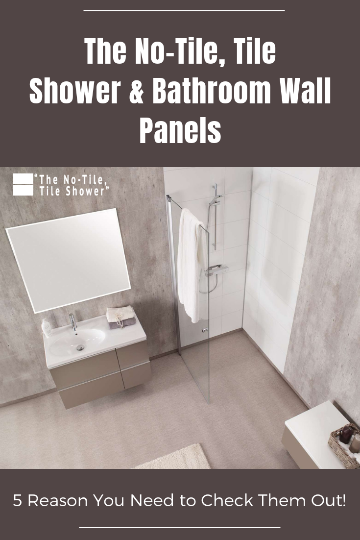 The No Tile Tile Shower and Bathroom Wall Panels | Innovate Building Solutions | #NoTileTileShower #TiledShower #BathroomTrends