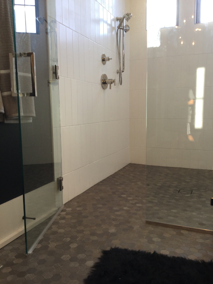 Barrier free tile shower 3 Pillar Home Columbus | #BarrierFreeShower #BathroomDesign #BathroomTrends