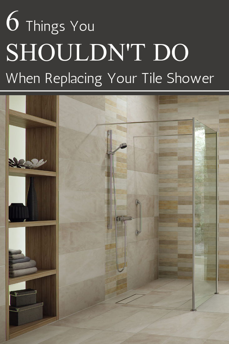 6 things you shouldn't do when replacing your tile shower | Innovate Building Solutions | #ShowerPanels #TiledShower #BathroomWallPanels #BathroomRemodel
