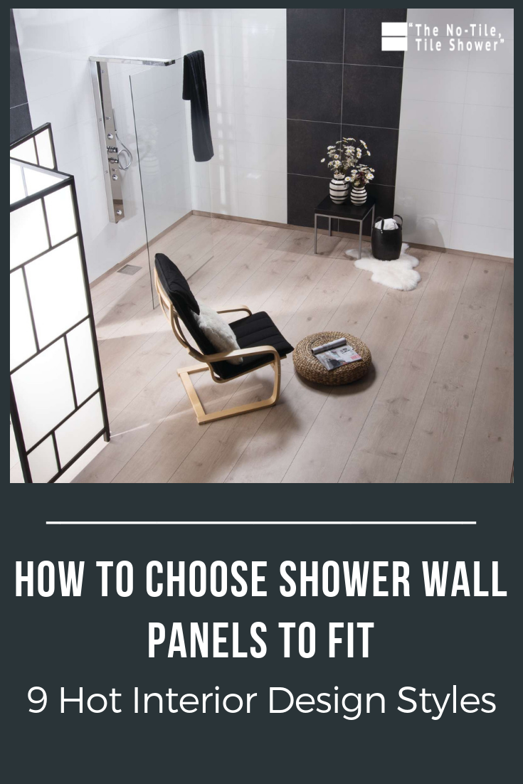 How to choose shower wall panels to fit 9 hot interior designs | Innovate Building Solutions | #ShowerPanels #BathroomDesigns #BathroomIdeas