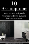 10 Assumptions about Shower Wall Panels You Need to Throw out Your Bathroom Window
