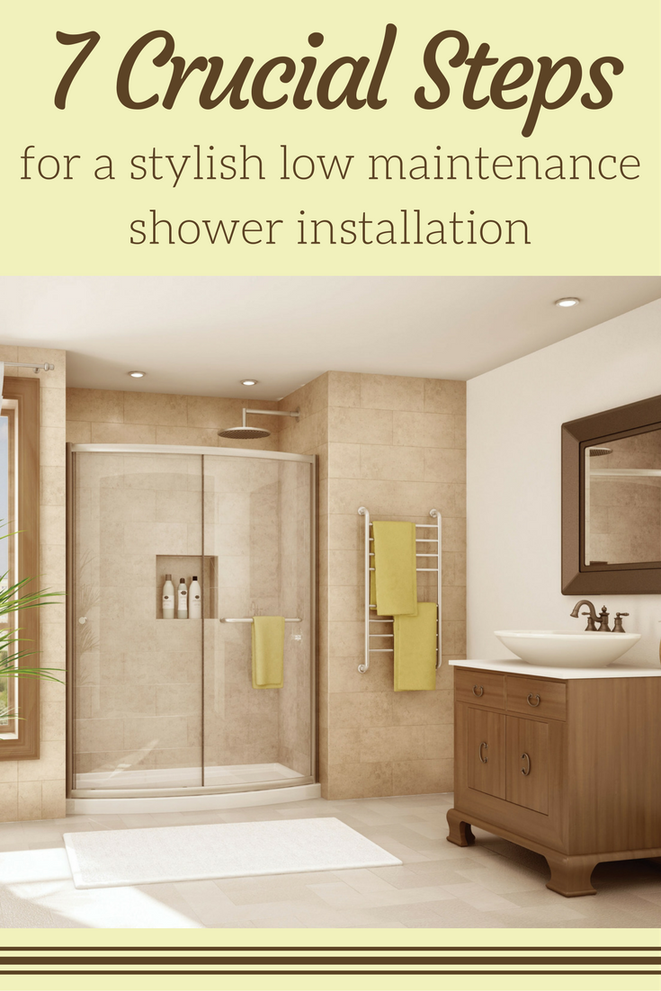 7 Crucial Steps for a Stylish Low Maintenance shower | Innovate Building Solutions | #ShowerInstall #BathroomRemodel #ShowerBase #AcrylicShower