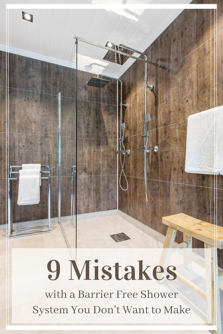 9 mistakes with a barrier free shower system you don't want to make | Innovate Building Solutions | #BathroomRemodeling #RemodelingMistakes #LaminateWallPanels #BarrierFreeShower