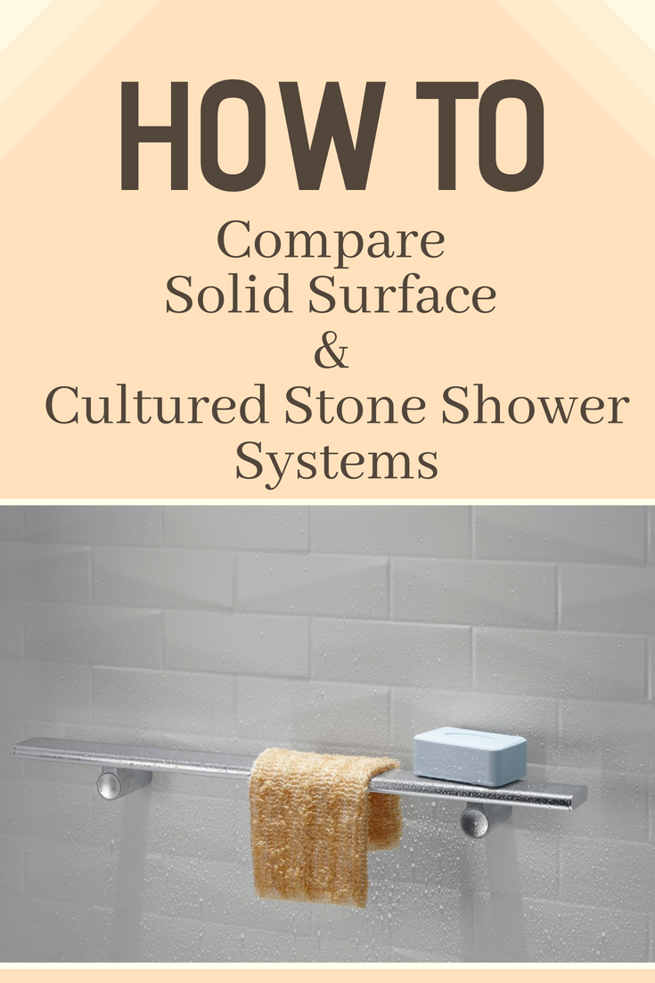 How to Compare Solid Surface and Cultured Stone Shower System | Innovate Building Solutions | #SolidSurface #ShowerWallPanels #CulturedStoneShower