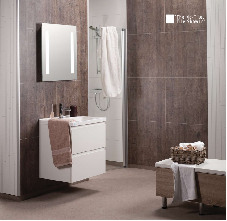 Laminate shower wall panels | Innovate Building Solutions | #LaminateShower #WallPanels #NoTileShower
