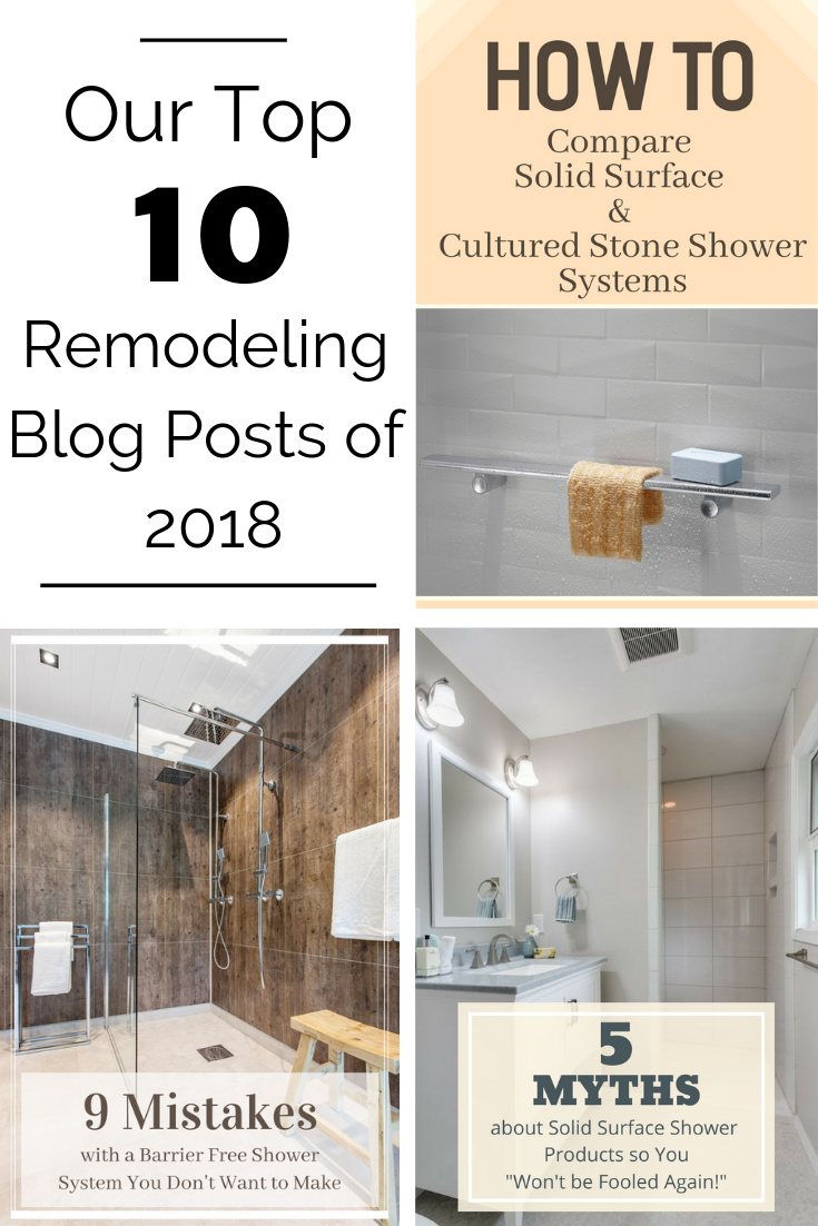Our Top 10 home remodeling blog post of 2018 | Innovate Building Solutions | #HomeRemodeling #ShowerTubWallPanels #WallPanels #BathroomRemodel