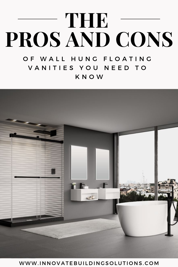 The Pros and Cons of wall hung floating vanites you need to know | Innovate Building Solutions | #WallHungVanities #ContemporaryVanities #BathroomDesigns #BathroomVanityIdeas