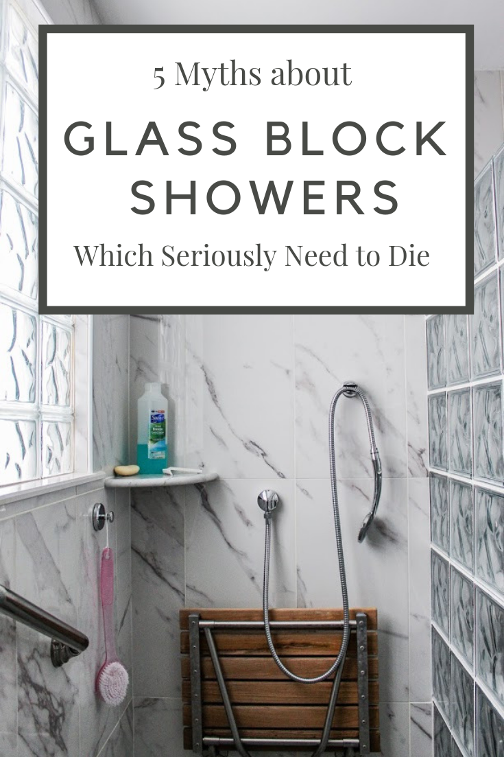 Glass Block shower myths that are downright wrong | Innovate Building Solutions | #glassblockshower #showerdesigns #bathroomremodeling #ShowerDeisgns