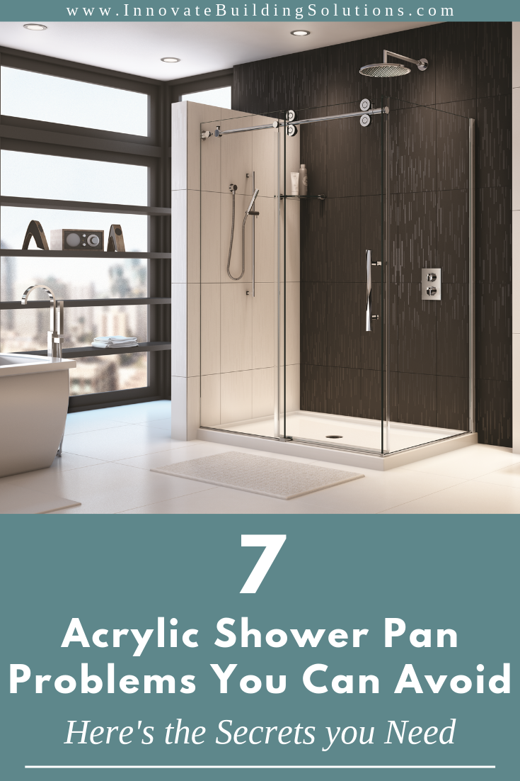 Reinforced contemporary acrylic shower pan shower pan problems to avoid | Innovate Building Solutions | #Contemporarybathrooms #Bathroomshowerideas #bathroomdesigns