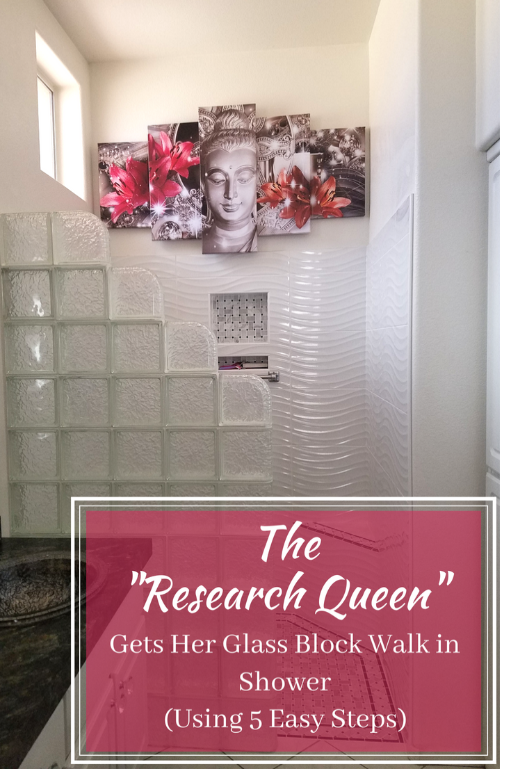 The research Queen Gets her glass block walk in shower | Innovate Building Solutions | #GlassBlockShower #GlassBlockDesign #InformationTips #Installglassblock