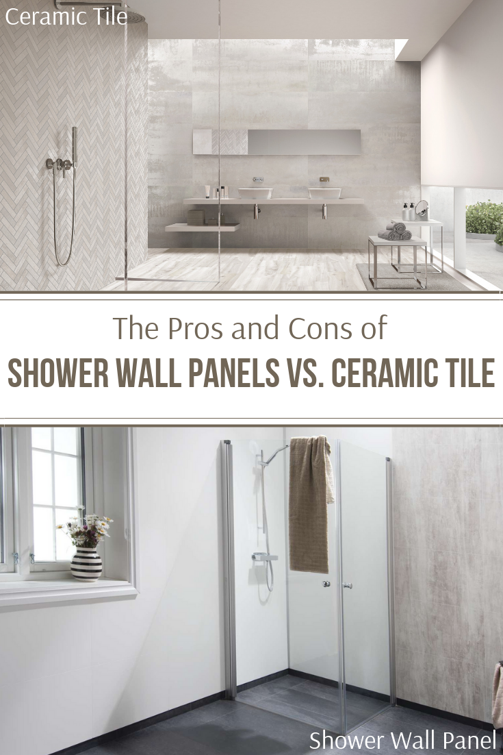 The Pros and Cons of Shower wall panels vs ceramic tile | Innovate Building Solutions | #CeramicTile #ShowerwallPanels #WallPanels #BathroomRemodelingonabudget