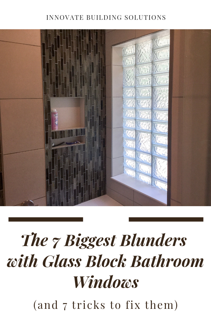 Glass block window in bathroom or shower installation | Innovate Building Solutions | #GlassBlockWindow #BathroomWindows #GlassBlockDesign