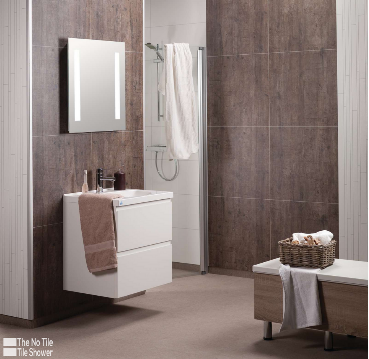 Laminate wall panels Rough wood waterproof laminated shower panels | Innovate Building Solutions | #LaminateWallPanels #RoughWoodpanels #WallPanelsInstallation