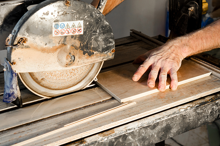 Laminate no specialty tools like a wet saw   Innovate Building Solutions   #CuttingTools #CuttingTile #WetSaw